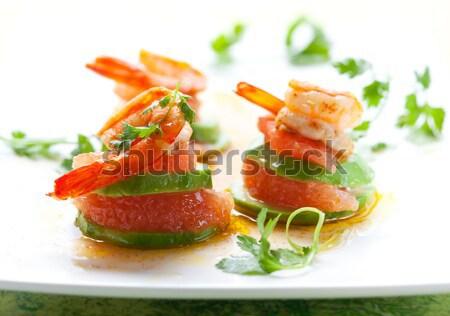 Салат краба мяса морепродуктов обеда Сток-фото © sarsmis