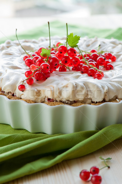 Redcurrant meringue tart  Stock photo © sarsmis