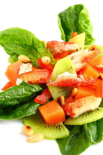 Ensalada cangrejo carne mariscos alimentos pimienta Foto stock © sarsmis