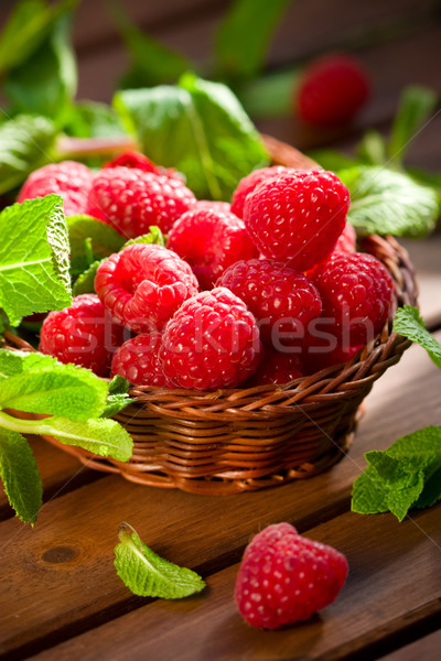 Fresh raspberries  Stock photo © sarsmis