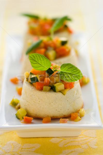 ロクフォール チーズケーキ 野菜 チーズ プレート ニンジン ストックフォト © sarsmis