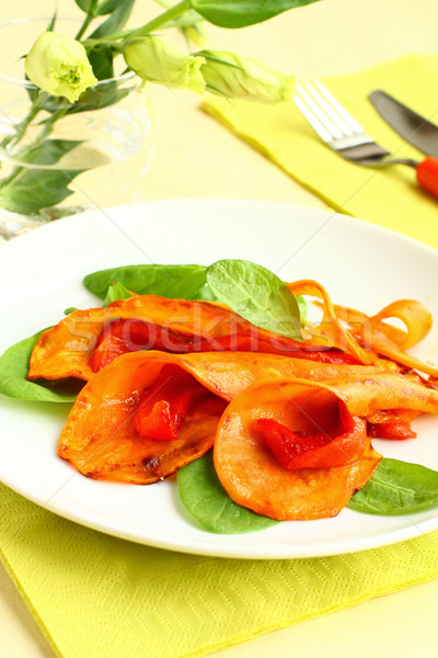 roasted sweet potato and bell pepper Stock photo © sarsmis