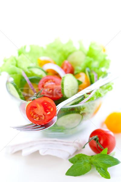 Tomate concombre salade fraîches alimentaire repas Photo stock © sarsmis