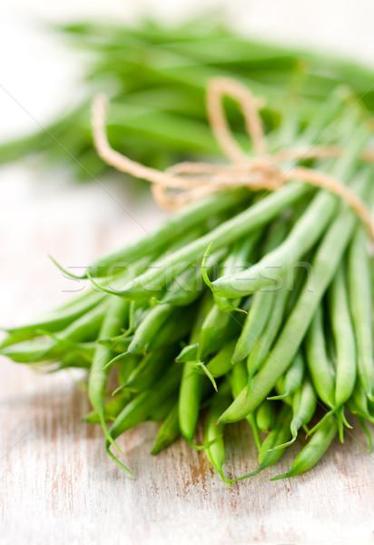 Zöldbab köteg zöldbab zöld zöldség friss Stock fotó © sarsmis