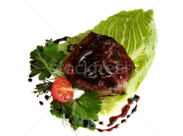 Beef steak with balsamic sauce Stock photo © sarsmis