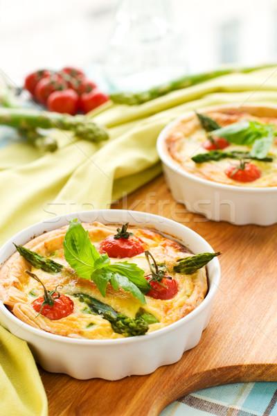 Tomate espárragos mini cereza verde alimentos Foto stock © sarsmis