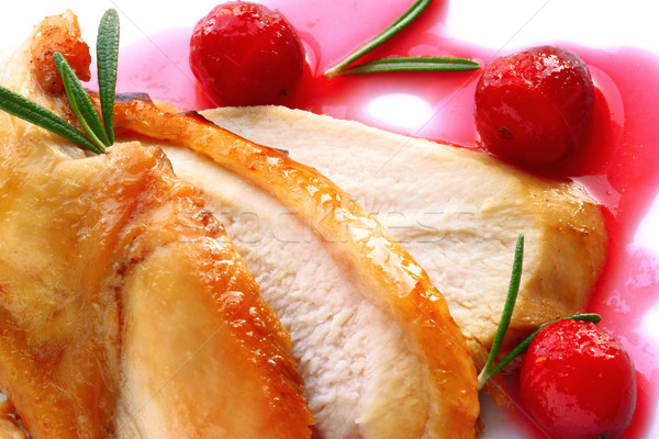Turkey breast with cranberry sauce  Stock photo © sarsmis