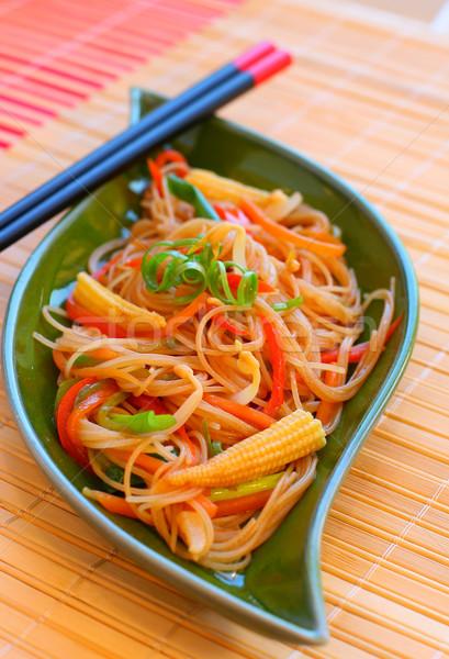 Légumes frit alimentaire asian Photo stock © sarsmis