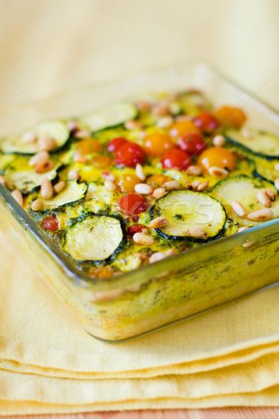 vegetable gratin(quiche) Stock photo © sarsmis