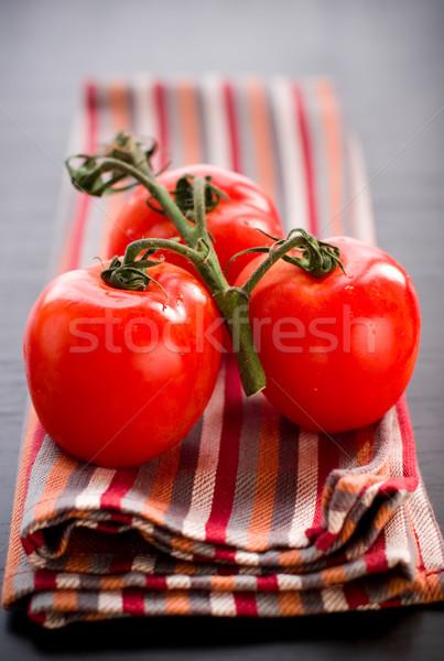 Taze domates domates şube tablo yaz Stok fotoğraf © sarsmis