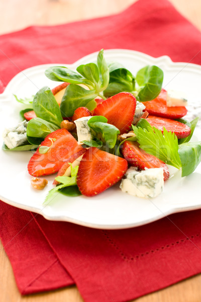 Fraise salade fruits vert fromages rouge Photo stock © sarsmis
