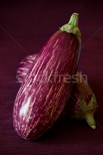 Aubergine twee rijp voedsel paars organisch Stockfoto © sarsmis