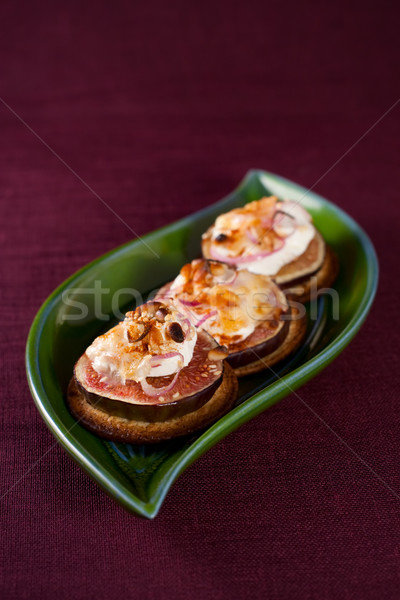 figs and cheese on cracker  Stock photo © sarsmis
