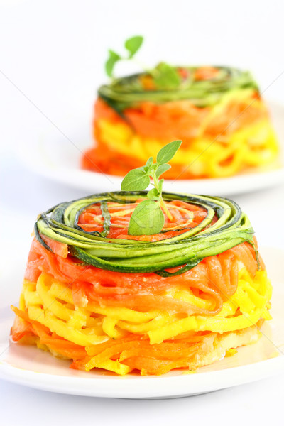 пасты овощей итальянский цуккини морковь продовольствие Сток-фото © sarsmis