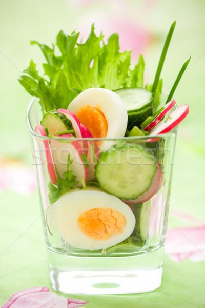 Ovo salada comida natureza verde alimentação Foto stock © sarsmis