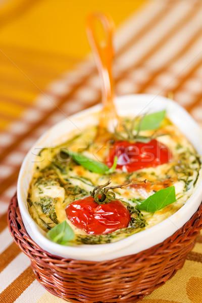 Tomates queijo abobrinha prato comida Foto stock © sarsmis
