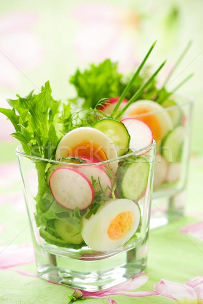 Ei salade voorjaar voedsel natuur groene Stockfoto © sarsmis