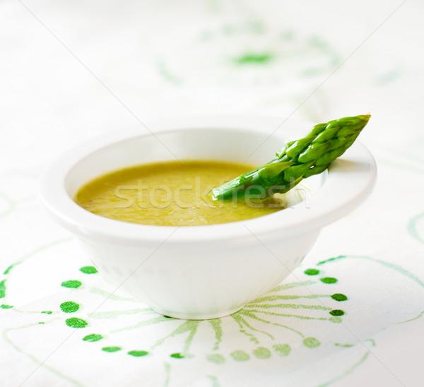 Espárragos sopa frescos crema adornar alimentos Foto stock © sarsmis