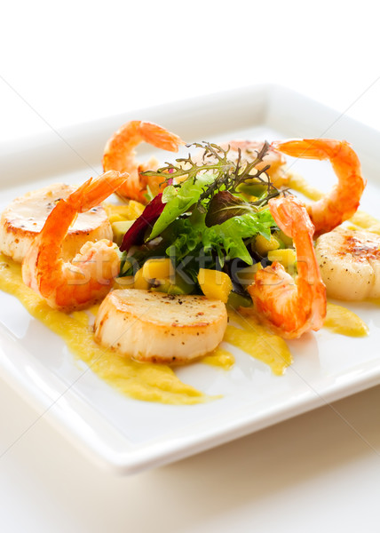 salad with shrimp and scallop Stock photo © sarsmis