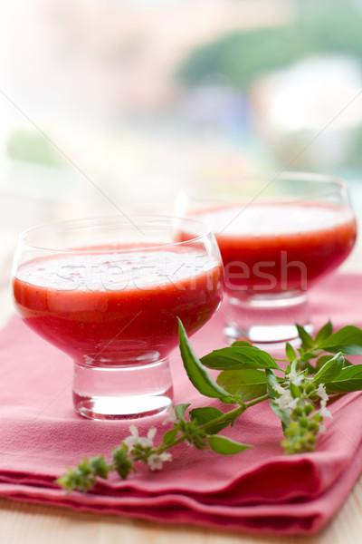 Stock fotó: Finom · leves · hideg · gyümölcs · nyár · paradicsom