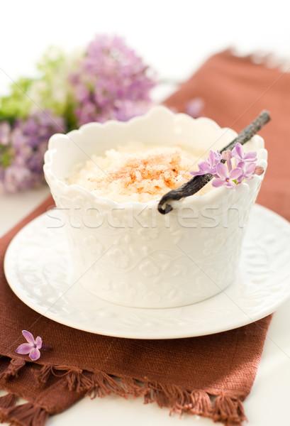 Sütlaç vanilya tarçın gıda süt tatlı Stok fotoğraf © sarsmis