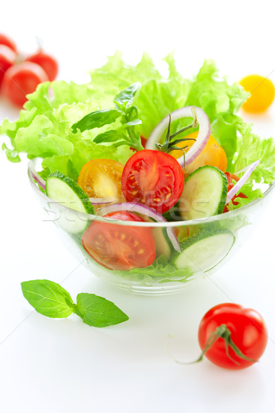 Tomate concombre salade fraîches alimentaire repas Photo stock © sarsmis