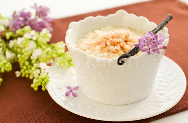 Rice pudding Stock photo © sarsmis