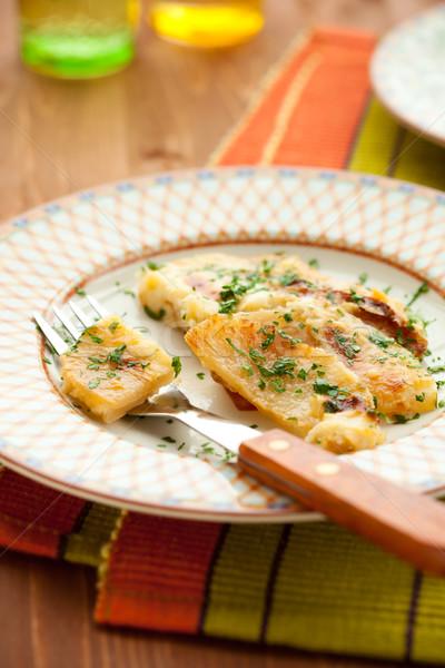 Papa queso crema plato saludable hierba Foto stock © sarsmis