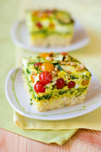 slices of vegetable gratin(quiche)  Stock photo © sarsmis