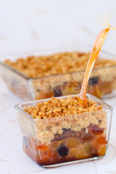 Dried fruit crumble  Stock photo © sarsmis