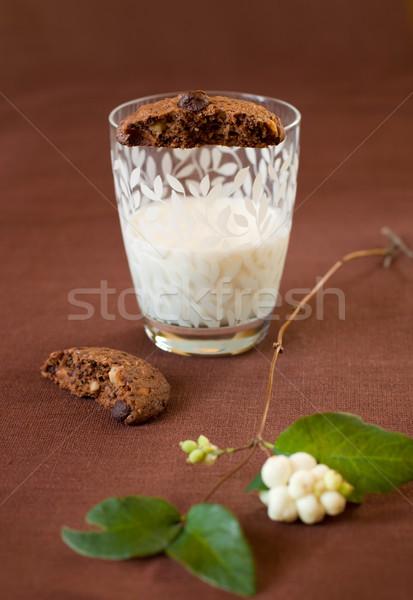 Chocolade chip cookies eigengemaakt moer melk Stockfoto © sarsmis