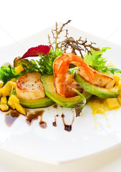 salad with shrimps and scallops Stock photo © sarsmis