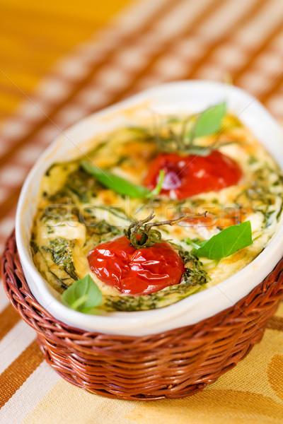 tomato gratin Stock photo © sarsmis