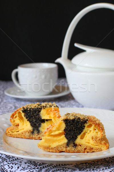 poppy seed quark cake Stock photo © sarsmis