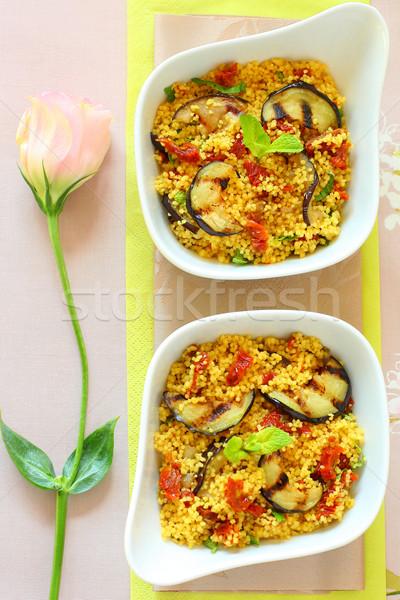 Couscous insalata alla griglia pomodori menta Foto d'archivio © sarsmis