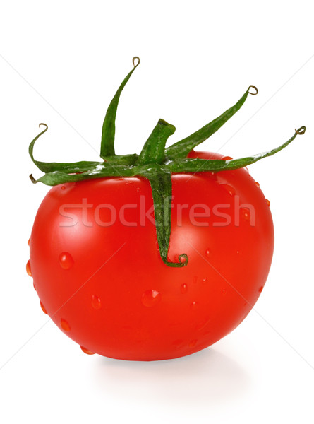 Tomate isolé blanche fruits rouge chute Photo stock © sarsmis