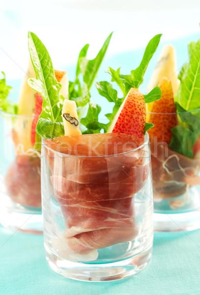 Aperitivo fiesta ensalada pera cohete plato Foto stock © sarsmis