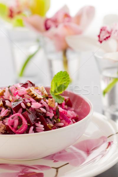 свекла Салат риса обеда мята Сток-фото © sarsmis