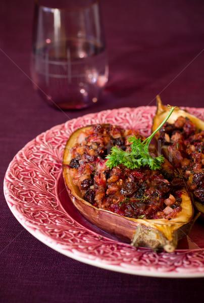 баклажан фаршированный овощей изюм обеда Сток-фото © sarsmis