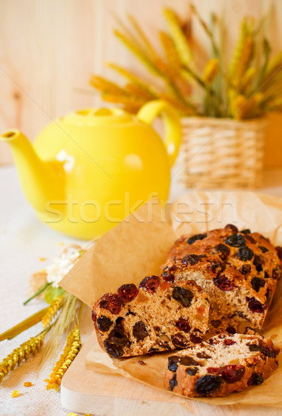 Traditioneel eigengemaakt fruitcake Engels thee brood Stockfoto © sarsmis