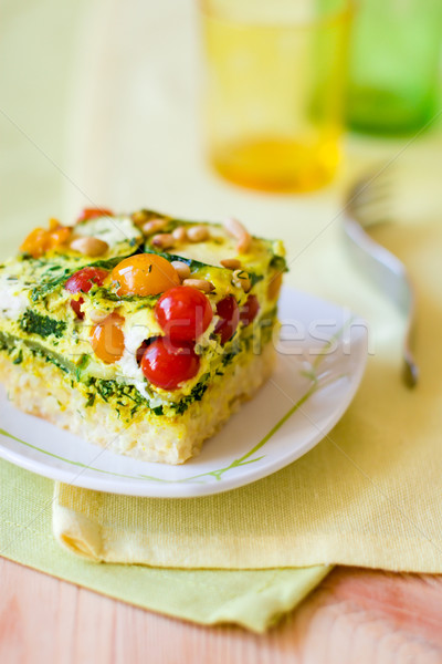 slices of vegetable gratin(quiche)  Stock photo © sarsmis