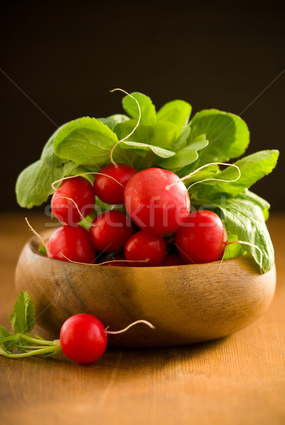 Fresh radishes Stock photo © sarsmis