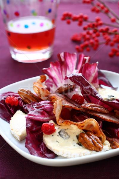 Salade heerlijk knapperig spek voedsel Stockfoto © sarsmis