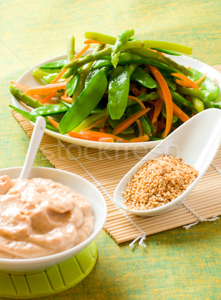 cooked vegetables with dressing Stock photo © sarsmis