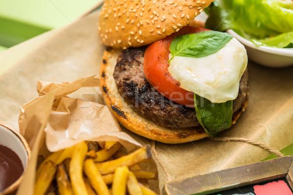 Stock photo: Delicious burger