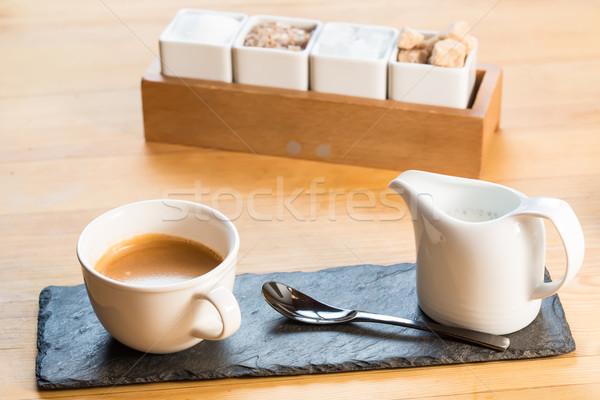 кофе эспрессо Кубок избирательный подход фон искусства Сток-фото © sarymsakov