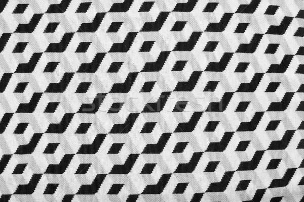 Abstrato geométrico preto e branco imprimir tecido Foto stock © sarymsakov