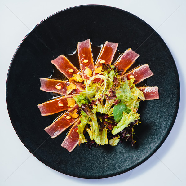Seared tuna steak Stock photo © sarymsakov