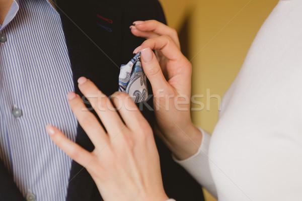 newlyweds hands Stock photo © sarymsakov