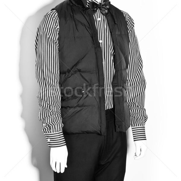 Próbababa férfi ruházat hipszter fehér fekete Stock fotó © sarymsakov
